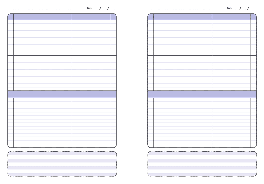 A4 Personalised primary teacher planner 3 lesson