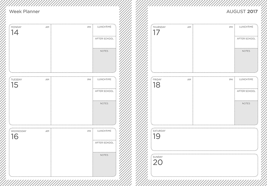 a4 personalised teaching assistant planner